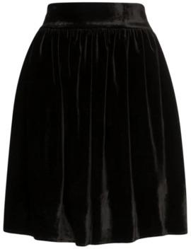 High Waisted Velvet Mini Skirt by Michael Lo Sordo