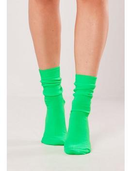 Zielone Neonowe Skarpetki by Missguided