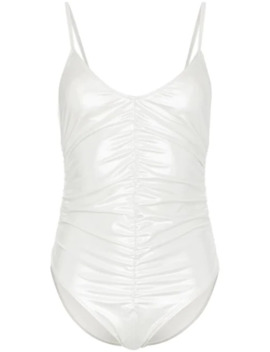 Ruched Metallic Swimsuit by Lisa Marie Fernandez