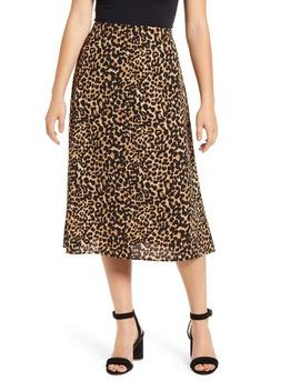Loveapella Leopard Print Midi Skirt by Loveappella