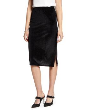 Velvet Stripe Pencil Skirt by Halogen