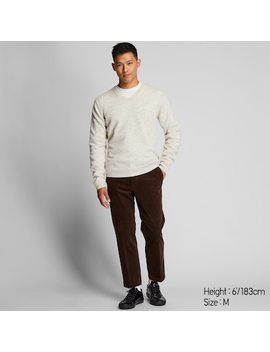 Herren Pullover Aus Premium Lammwolle Mit V Ausschnitt (1) by Uniqlo