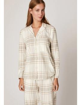 Mit Tartanprint   Pyjamashirt by Oysho