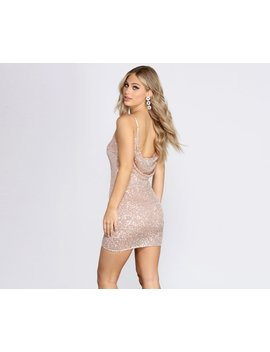 Glow And Shine Sequin Mini Dress by Windsor