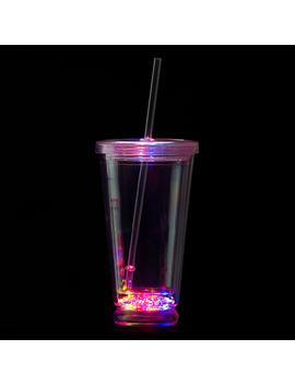 Flashing Led Tumbler With Straw by Stumps