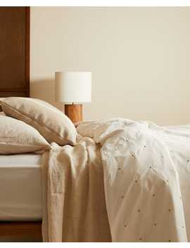 Duvet Cover With Embroidered Dots Duvet Covers   Bed Linen   Bedroom by Zara Home
