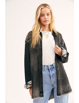 Cascades Studded Denim Buttondown by We The Free