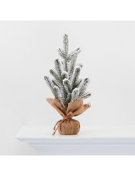 """13"""" Burlap Wrapped Plastic Flocked Tree   Wondershop™ by Shop This Collection"""