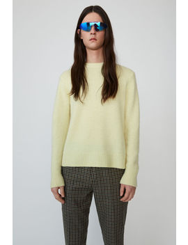 Pilled Crewneck Sweater Pale Yellow by Acne Studios