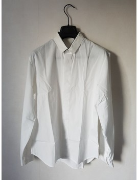 Dior Homme   Ss/10 White/Black Piping Colar Dress Shirt by Dior  ×