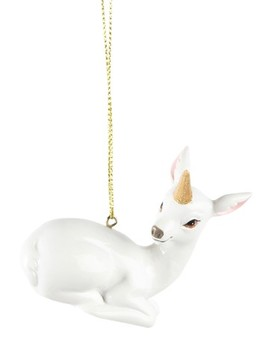 Paperchase Fawn Unicorn Horn Christmas Decoration by Next