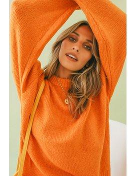 Between The Line Knit // Orange by Vergegirl