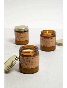 P.F. Candle Co.   Bougie Au Soja 3,5 Oz Parfum Ambre Et Mousse by P.F. Candle Co.