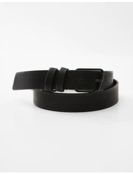 Black Belt With Asymmetric Buckle by Pull & Bear