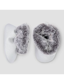 Baby Girls' Faux Fur Crib Boots   Just One You® Made By Carter's Velvet 3 6 M by Just One You Made By Carter's