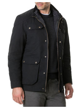 Men's Harper Waxed Field Jacket by Rodd & Gunn