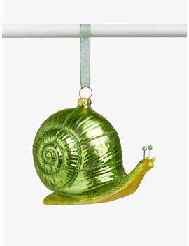 John Lewis & Partners Garden Retreat Snail Bauble, Green by John Lewis & Partners