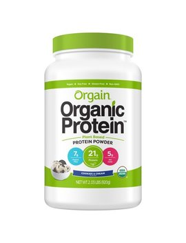 Orgain Organic Plant Based Protein Powder, Cookies & Cream, 21g Protein, 2.0lb, 32.0oz by Orgain