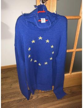 Vetements Vagabond Euro Star Sweater Knit Sweatshirt by Vetements  ×