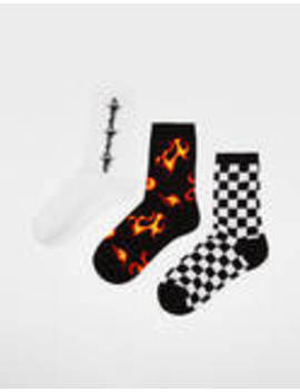 Κάλτσες με φλόγες by Bershka