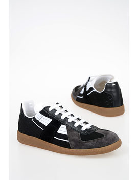 Mm22 Fabric Leather Sneakers by Maison Margiela
