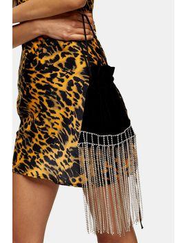 Sparkle Black Velvet Bag by Topshop