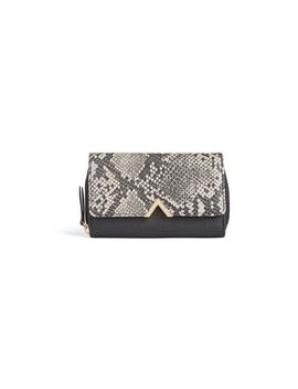 Grey Two Tone Croc Purse by Primark