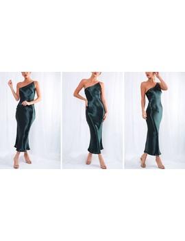 Amelia Slip Midi Dress   Green by Pretty Lavish