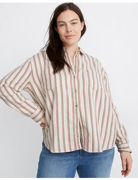 Flannel Sunday Shirt In Claxton Stripe by Madewell