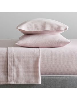 Organic Flannel Houndstooth Sheet Set by West Elm