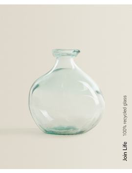 Rawshaped 100% Recycled Glass Bottle   Vases   Decoration   Living Room by Zara Home