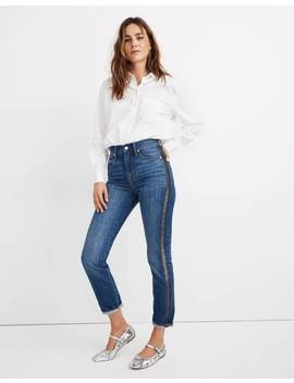 The Perfect Vintage Jean: Metallic Tuxedo Stripe Edition by Madewell