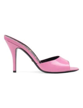 Leather Heeled Slides by Gucci