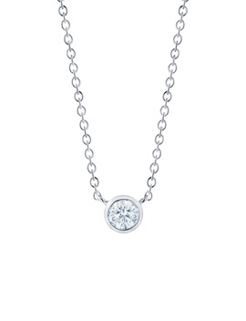 Diamond Circle Pendant Necklace by Kwiat