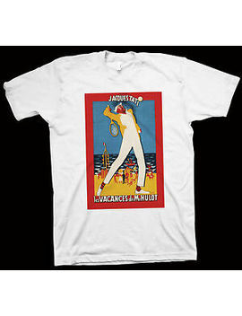 Monsieur Hulot's Holiday T Shirt Jacques Tati, Nathalie Pascaud, Cinema, Film by Gildan