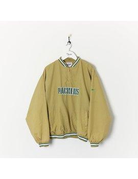 Reebok Green Bay Packers 1/4 Zip Pullover Jacket Beige Xl by Reebok
