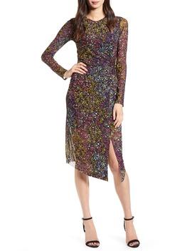 Mesh Print Long Sleeve Dress by Leith
