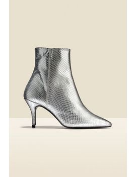 Amour Silver Snake Point Ankle Boot by Sosandar