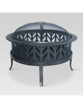"""26"""" Wood Burning Fire Pit Arrowcut   Threshold™ by Shop Collections"""