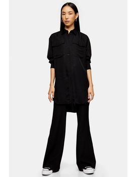**Black Longline Oversized Shirt By Topshop Boutique by Topshop