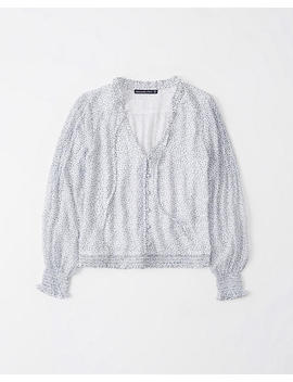 Long Sleeve Button Blouse by Abercrombie & Fitch