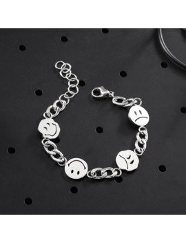 Smiley Charm Silver Bracelet by Vintage  ×  Silver  ×  Jewelry  ×