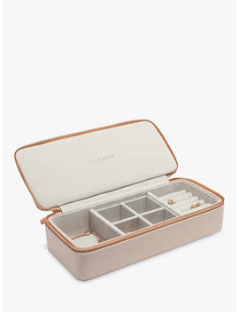 Stackers Weekend Travel Jewellery Box, Blush Pink by Stackers