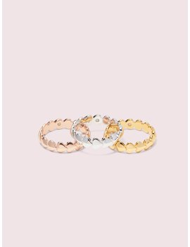 Heritage Spade Heart Ring Set by Kate Spade