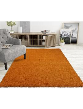 Lifestyle Shaggy Collection Orange 5 Ft. X 7 Ft. Shag Area Rug by Home Depot