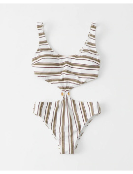 Knot Front One Piece Swimsuit by Abercrombie & Fitch