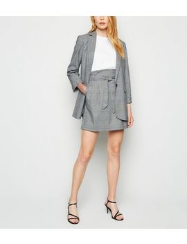 Light Grey Prince Of Wales Check Mini Skirt by New Look