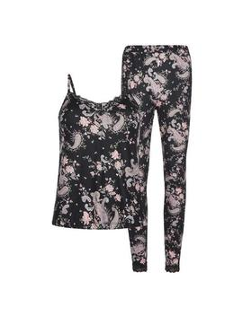Black Paisley Pyjama Set by Primark