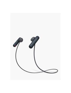 Sony Wi Sp500 Bluetooth Nfc Splash Resistant Wireless Sports In Ear Headphones With Mic/Remote, Black by Sony