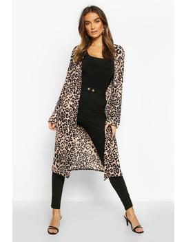 Leopard Print Duster by Boohoo
